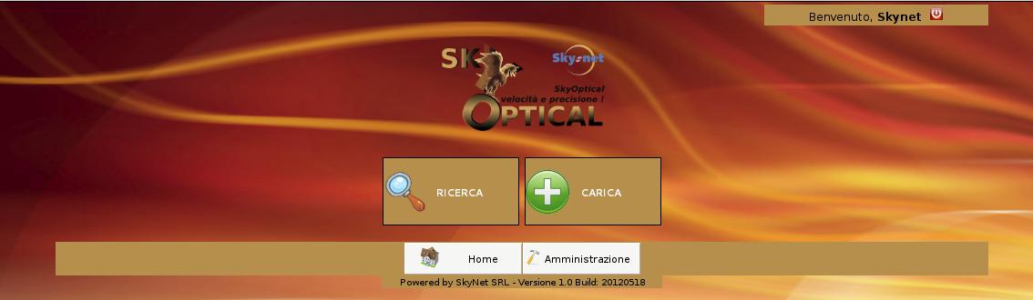 SkyOptical - Menu principale