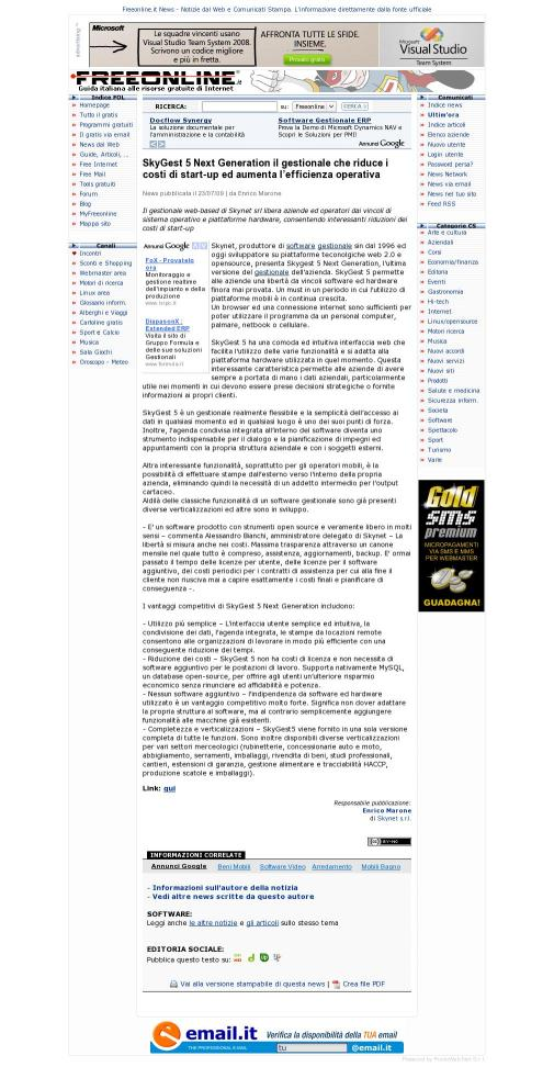 Freeonline-SkyGest 5 NG il gestionale che riduce i costi di start-up ed aumenta l'efficienza operativa_230709